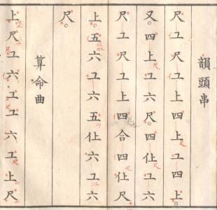 朱入りの『清風雅譜』(明治17年)