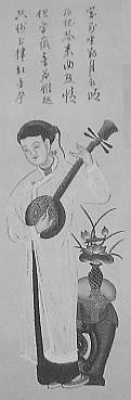 年画のベトナム月琴