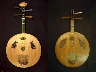 国産清楽月琴(21号)との比較